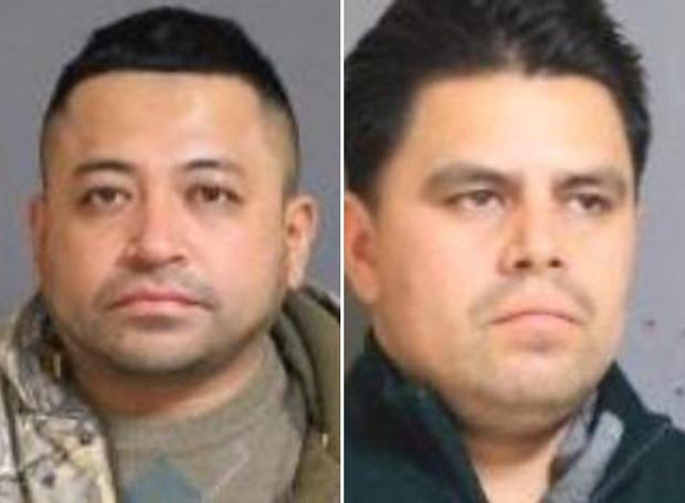 Hugo Ramirez-Morales (l.) and Angel Parra Penafiel were arrested Sunday and charged with grand larceny..jpg