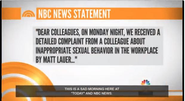 NBC statement on sacking Matt Lauer 1.png