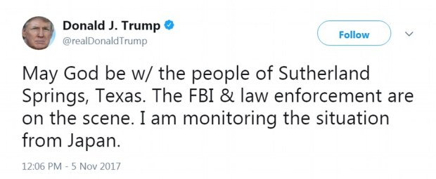 President Donald Trump  tweeted on tragic Texas shooting.jpg