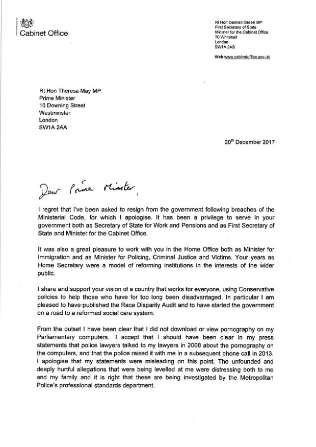 Damian Green's resignation letter 1.jpg