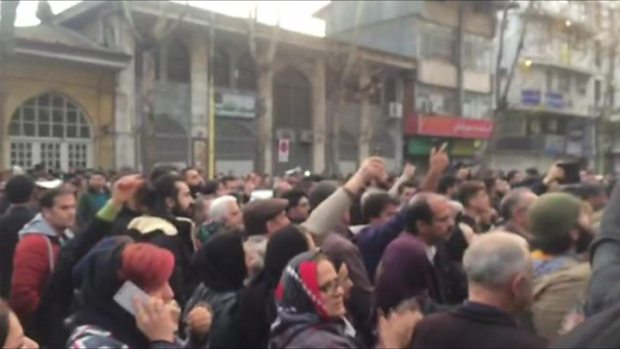 Demonstrators turned out in several large Iranian cities 1