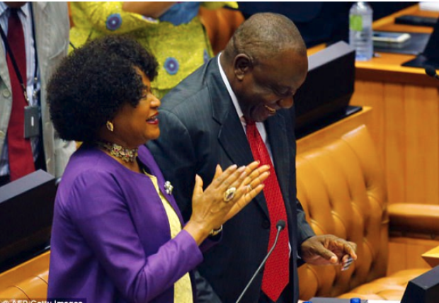 Cyril Ramaphosa ,with his wife applauding 2.png