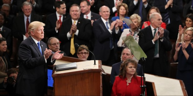 Donald Trump at 2018 State Of The Union 1