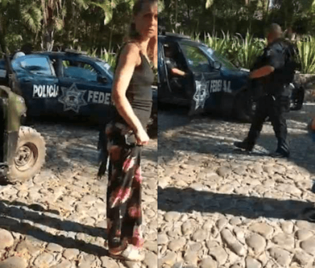 Allison Mack argues with Mexican police 2.png
