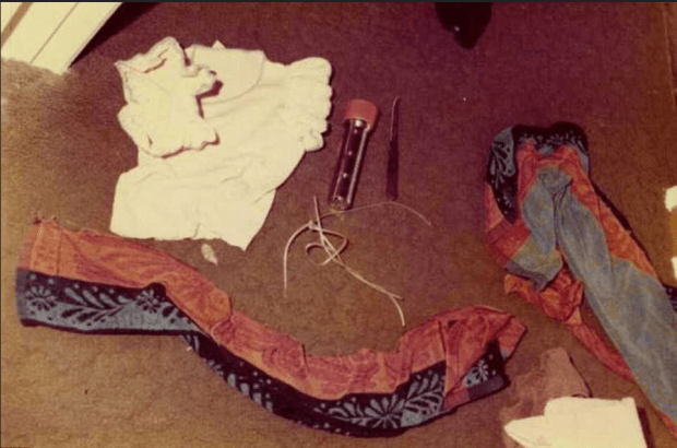Crime scene evidence fromone of the  Golden State Killer attacks in Sacramento County in the late 1970s. Pictured is crime scene evidence from one of the attacks .png