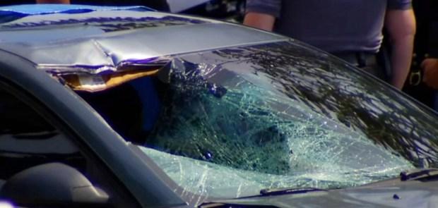 """Esteysi """"Stacy"""" Sanchez's car after the accident 7"""
