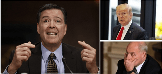 James Comey, Donald Trump and John Kelly 1