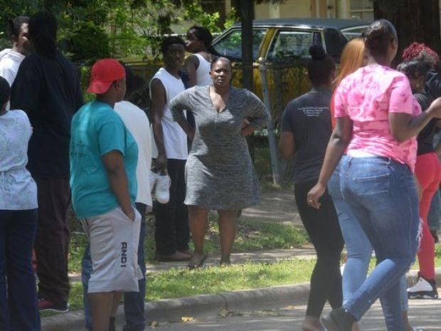 Neighbors and police in Shreveport responded to a report of shots fired at the 1300 block of Natalie Street..JPG