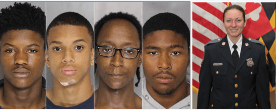 Three more teens charged with murder in death of Baltimore County cop! Officer Amy Caprio was run over and killed by the getaway car driven by the 4-man juvenile burglary gang
