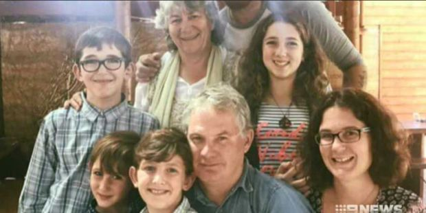 Grandfather Peter Miles, suspected of shooting of his wife, their daughter and four grandchildren (pictured together) before turning the gun on himself.JPG