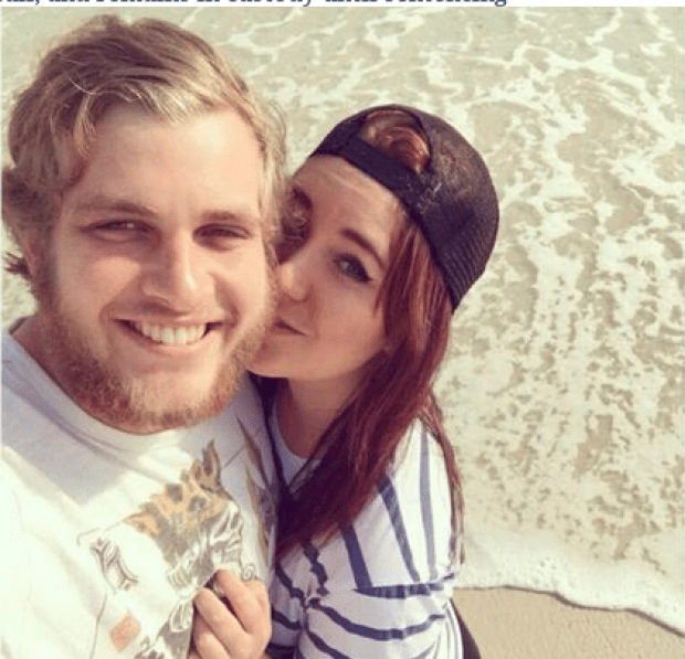 Henri van Breda was and his girlfriend Danielle Janse Van Rensburg [right]