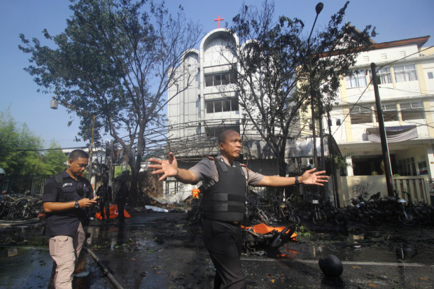 Police activity at site of bomb blast.jpg
