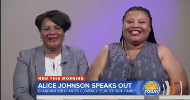 Alice Johnson and daughter on NBC's TODAY show June 7.png