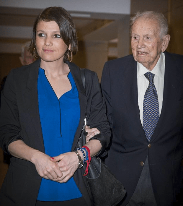 Inés Zorreguieta, [left] with her father Jorge Zorreguieta in 2017.png