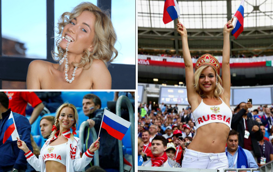 Online sleuths uncover the many faces of  'soccer loving Russian beauty from her name tag' - Watchers claim Russian World Cup fan whose photos went viral around the world is an adult entertainer
