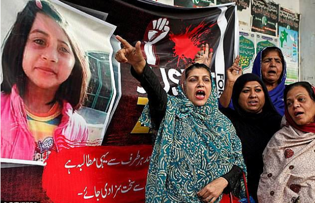 Protesters demand justice for six-year-old rape and murder victim, Zainab Fatima Ameen 2