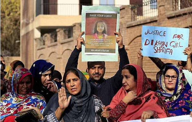 Protesters demand justice for six-year-old rape and murder victim, Zainab Fatima Ameen 3.png