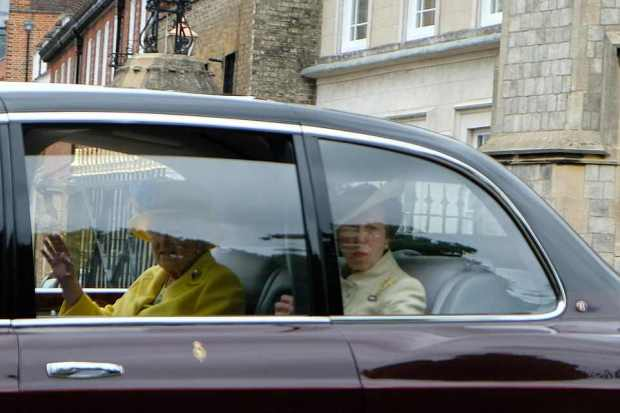 Queen Elizabeth and her daughter Princess Anne depart for the Ascot 2.jpg