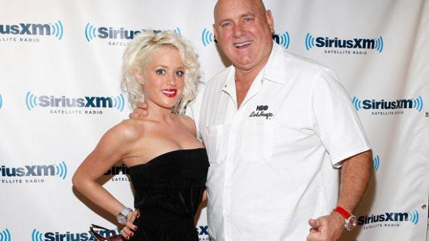dennis Hof and Cami Parker visit SiriusXM Studio, Nov. 16, 2011 in New York City.