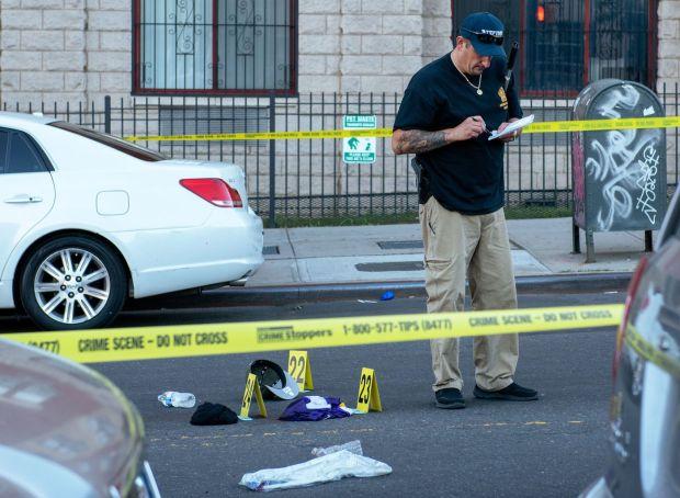Police activity at the spot in NY where David Hall shot and killed William Fernandez.jpg