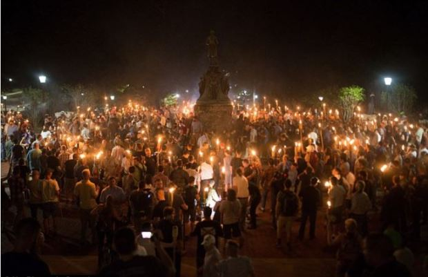 The White Supremacist rally in Charlottesville, Va on Aug 11, 2017.JPG