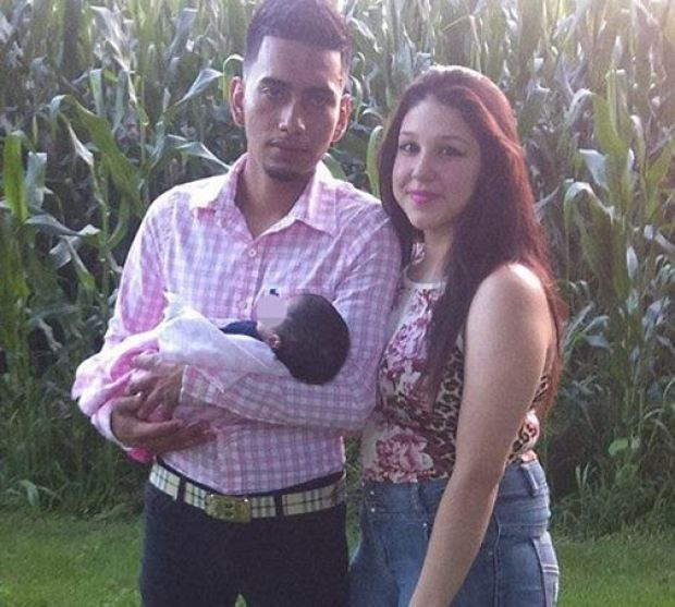 Cristhian Rivera, Iris Monarrez and their baby 2