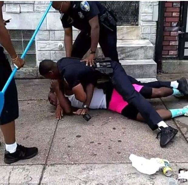 Dashawn McGrier is beaten up by Baltimore cop 3