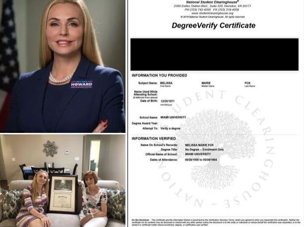 Miami University in Ohio debunks Florida GOP candidate's degree claim - School says Melissa Howard posed with FAKE diploma in marketing, because they don't offer that major