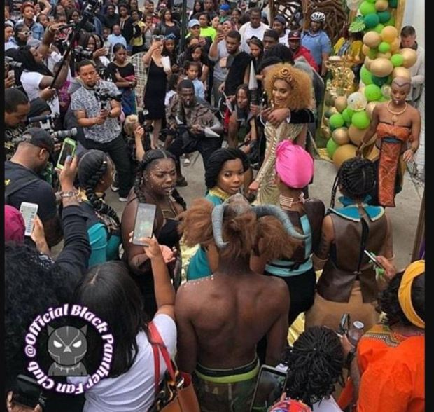 Saudia Shuler's Black Panther themed party for neighbourhood kids 4.JPG