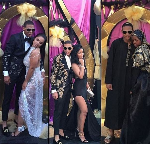 Saudia Shuler's her son had three dates and outfits to accompany him.JPG