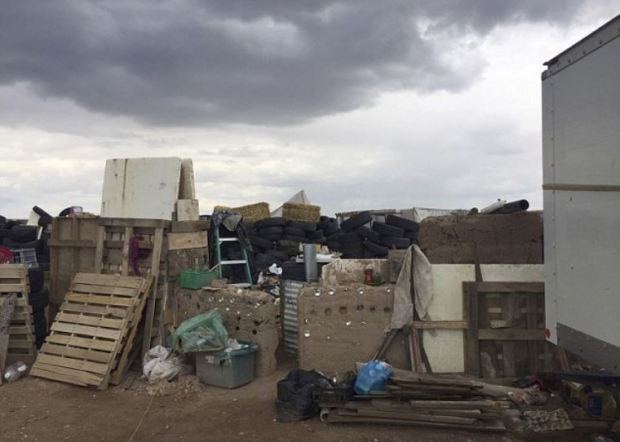 The squalid conditions inside the New Mexico trailer park compound were 11 children were rescued Fridays 2.JPG