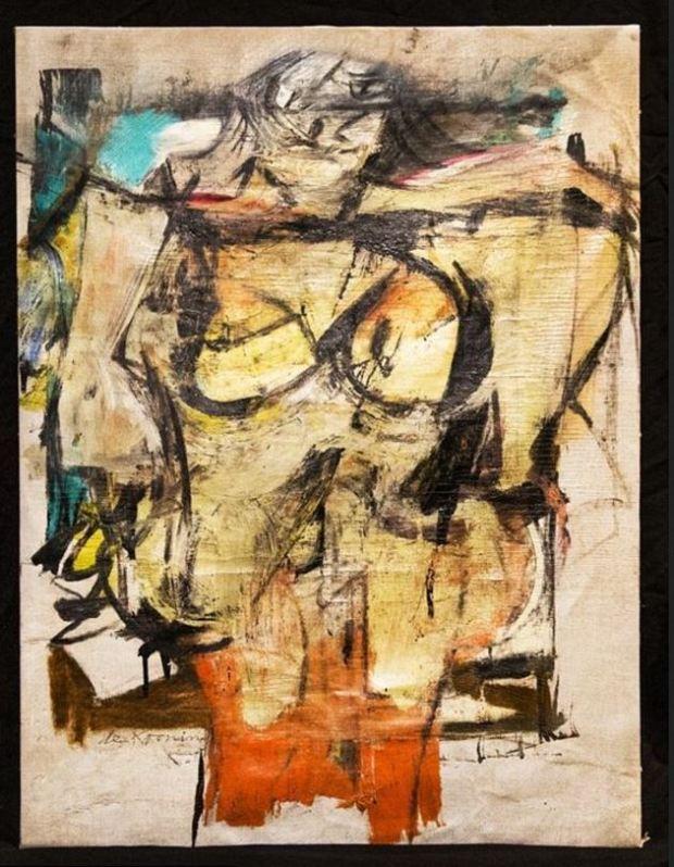 Willem de Kooning's iconic 'Woman-Ochre' painting 1