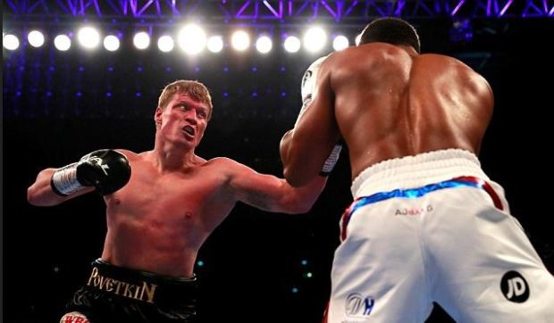 Anthony Joshua [left], vs Alexander Povetkin fight 5