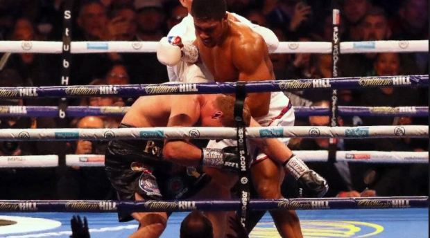 Anthony Joshua [left], vs Alexander Povetkin fight 6