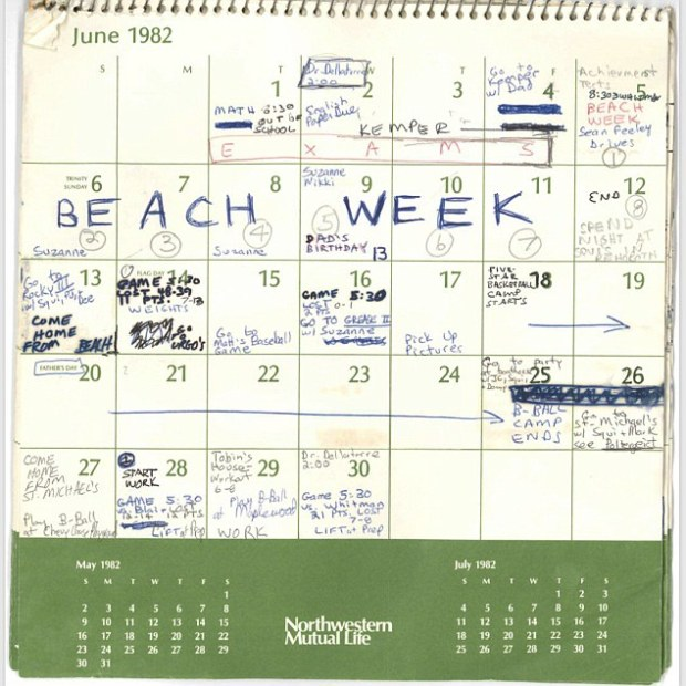 Brett Kavanaugh's 1982 calendar 2