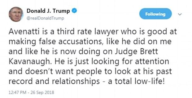 Donald Trump tweet an Brett kavanaeh.jpg