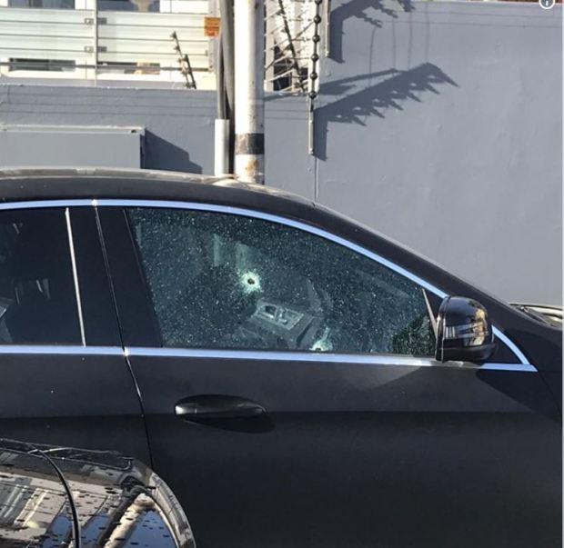 Pete Mihalik's bullet riddled sedan.JPG