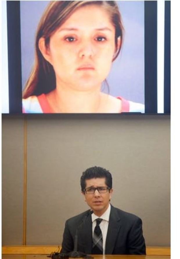 Ricardo Paniagua testifies in trial of his ex Brenda Delgado in photo bove
