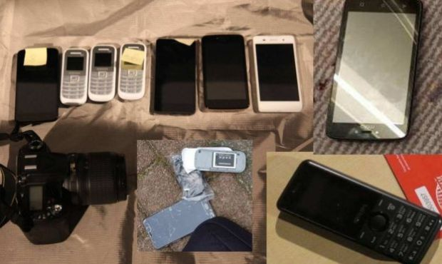 The cache of mobile phones recovered from the Russian agents in the Netherlands.jpg