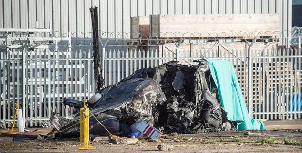 Vichai Srivaddhanaprabha's crashed helicopter 1