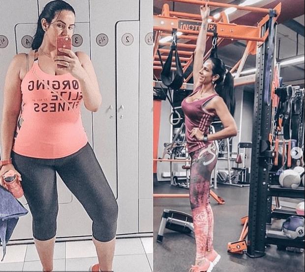 Evgenia Vorobiyova in the gym 1