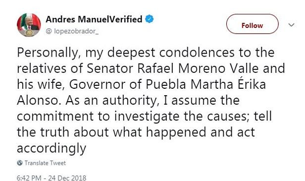 Andres Manuel, the Mexican president 1