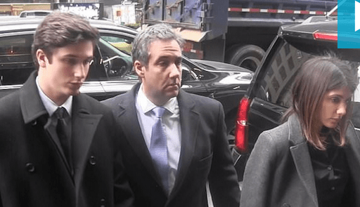 Michael Cohen and his family arrive court for sentencing on Dec 12