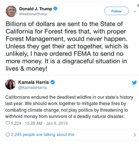 Kamala response on FEMA fire funds 1