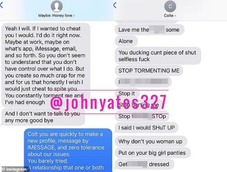 Text exchange between Lari Cristina Johnson and Larissa Dos Santos Lima 3