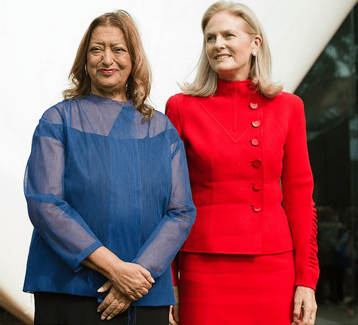 Zaha Hadid [left], and Theresa Sackler 1