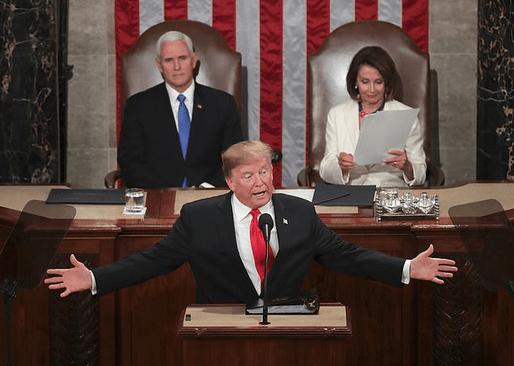 Mike Pence, Donald Trump and Nancy Pelosi 2
