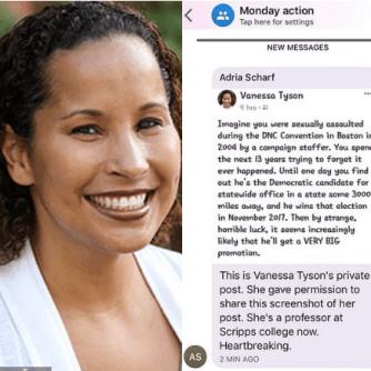 Vanessa Tyson's post on her rape 2
