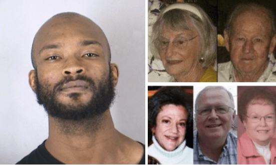 Quintuple-homicide suspect Brandon Howell, aka 'Cul-de-sac Killer', convicted on five counts of first-degree murder, after he beat an elderly Kansas City couple to death before fatally shooting three witnesses during auto theft in 2014