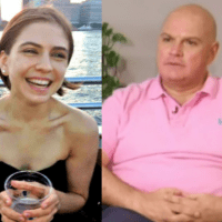 Ex-college student, 29, is charged with 'conspiring with her classmate's sex cult dad, 61, who moved into his daughter's student apartment before pimping out her friends, blackmailing them and extorting them out of $1 million' - Isabella Pollok  and her 'pimp daddy', both face life in prison